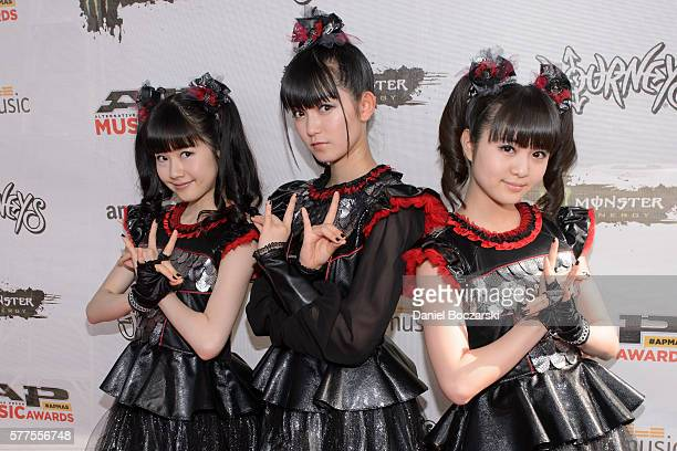 Yuimetal Sumetal and Moametal of Babymetal attend the Alternative Press Music Awards 2016 at Jerome Schottenstein Center on July 18 2016 in Columbus...