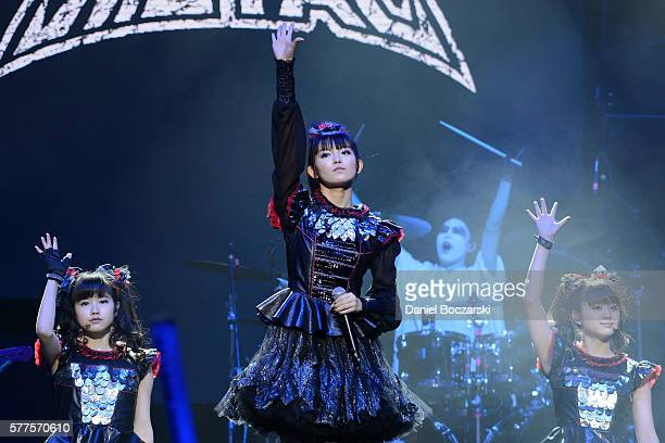 Yuimetal Sumetal and Moametal of Babymetal perform during the Alternative Press Music Awards 2016 at Jerome Schottenstein Center on July 18 2016 in...