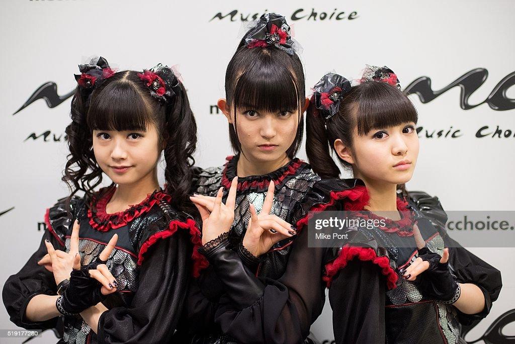 Metal Band Babymetal Visits Music Choice : News Photo