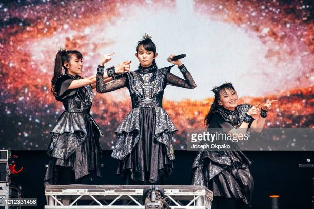 YuiMetal Suzuka Nakamoto and Moametal of Babymetal perform at The Other Stage during day five of Glastonbury Festival at Worthy Farm Pilton on June...