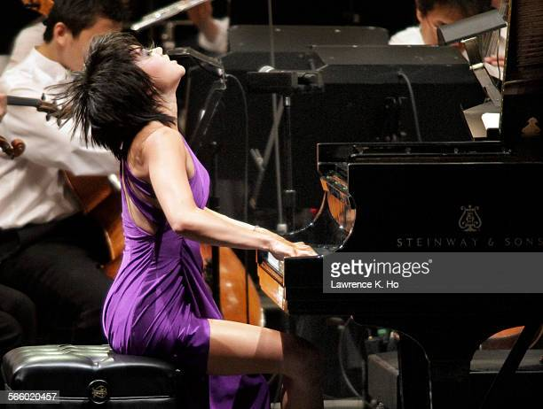 Yuja Wang piano soloist with LA Phil conducted by Gustavo Dudamel in Tchaikovsky's Piano Concerto @@#1 at the Hollywood Bowl on Aug 9 2012 Also on...