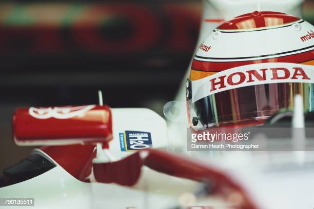 Yuji Ide of Japan sits aboard the Super Aguri F1 TeamSuper Aguri SA05 Honda RA806E V8 during practice for the Formula One Bahrain Grand Prix on 11...