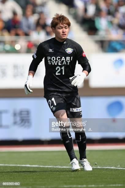 Yuji Kajikawa of Tokushima Vortis in action during the JLeague J2 match between Tokushima Vortis and Nagoya Grampus at Naruto Otsuka Pocari Sweat...