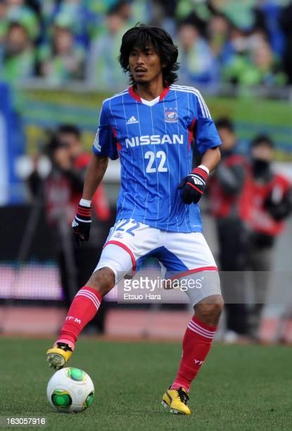 Yuji Nakagawa of Yokohama FMarinos in action during the JLeague match between Yokohama FMarinos and Shonan Bellmare at Nissan Stadium on March 2 2013...