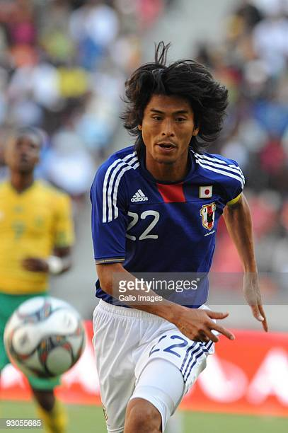 Yuji Nakazawa in action during the international match between South Africa and Japan at Nelson Mandela Bay Stadium on November 14 2009 in Port...