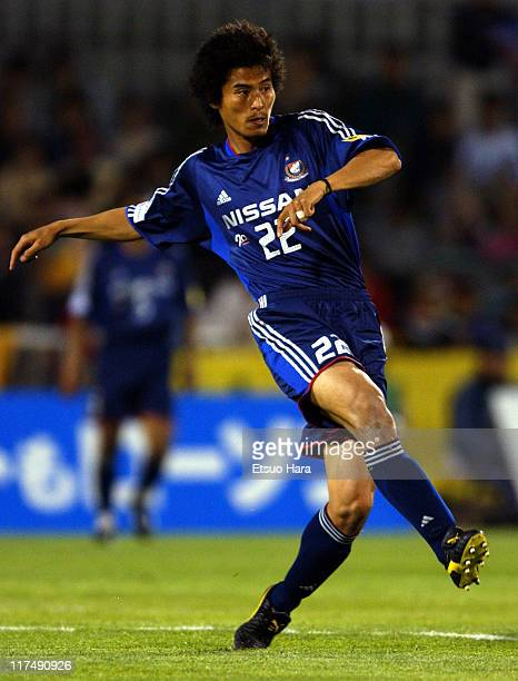 Yuji Nakazawa of Yokohama F. Marinos in action during the J.League Division 1 first stage match between JEF United Ichihara and Yokohama F. Marnios...