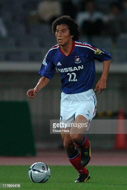 Yuji Nakazawa of Yokohama F Marinos in action during the JLeague Division 1 first stage match between Yokohama F Marinos and Shimizu SPulse at...