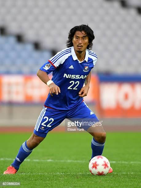 Yuji Nakazawa of Yokohama FMarinos in action during the 96th Emperor's Cup 4th Round match between Yokohama FMarinos and Albirex Niigata at Nissan...