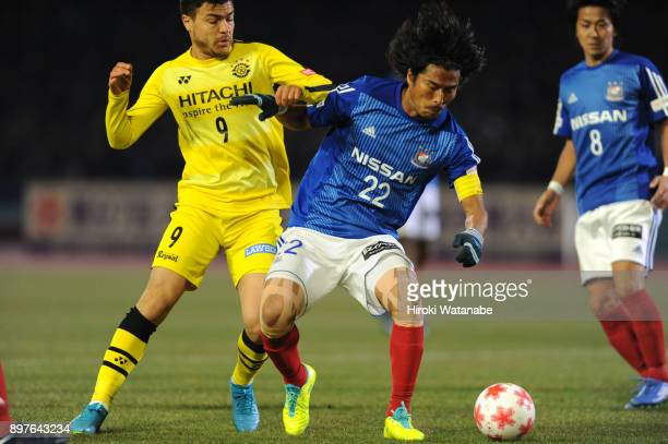 Yuji Nakazawa of Yokohama FMarinos in action during the 97th Emperor's Cup semi final match between Yokohama FMarinos and Kashiwa Reysol at Todoroki...
