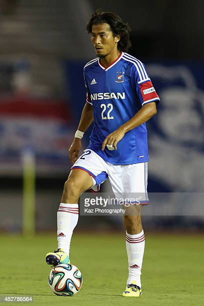 Yuji Nakazawa of Yokohama FMarinos in action during the J League match between Nagoya Grampus and Yokohama FMarinos at Mizuho Stadium on July 27 2014...