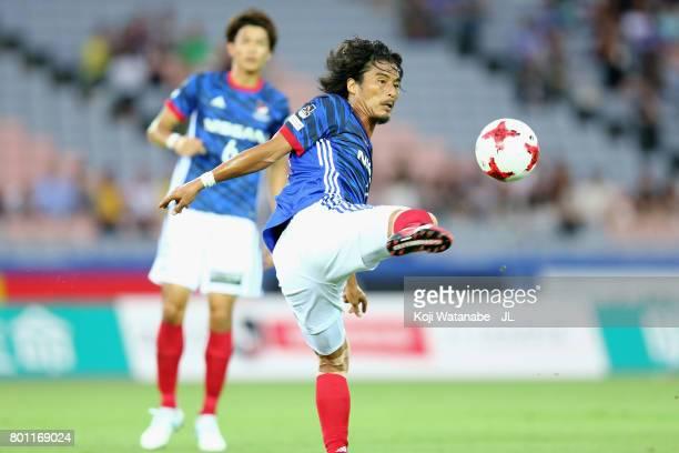Yuji Nakazawa of Yokohama FMarinos in action during the JLeague J1 match between Yokohama FMarinos and Vissel Kobe at Nissan Stadium on June 25 2017...