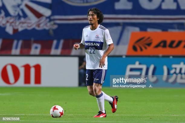 Yuji Nakazawa of Yokohama FMarinos in action during the JLeague J1 match between Consadole Sapporo and Yokohama FMarinos at Sapporo Dome on August 9...
