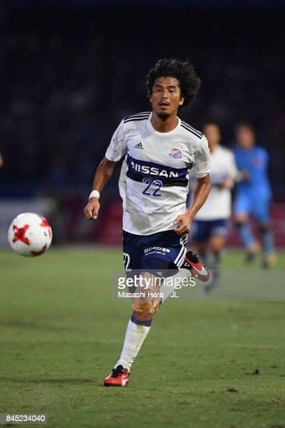 Yuji Nakazawa of Yokohama FMarinos in action during the JLeague J1 match between Kawasaki Frontale and Yokohama FMarinos at Todoroki Stadium on...