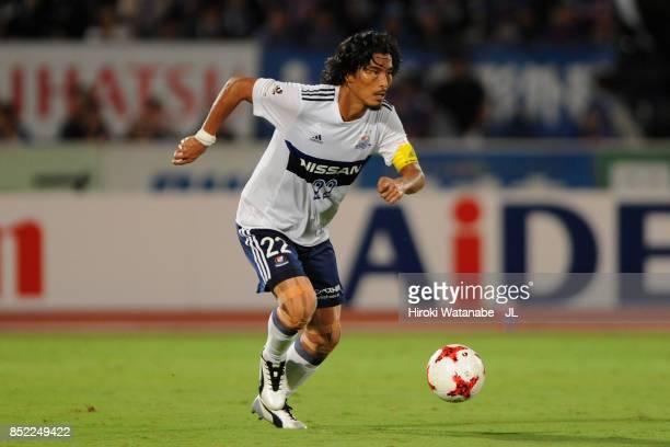 Yuji Nakazawa of Yokohama FMarinos in action during the JLeague J1 match between Ventforet Kofu and Yokohama FMarinos at Yamanashi Chuo Bank Stadium...