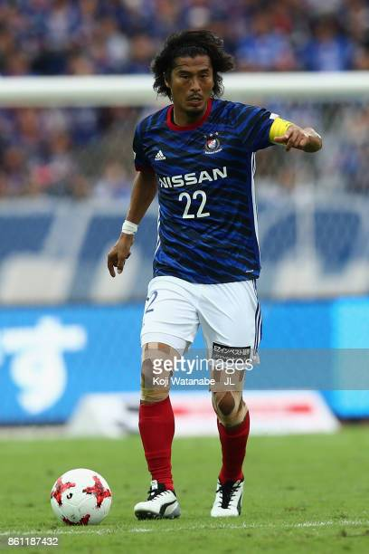 Yuji Nakazawa of Yokohama FMarinos in action during the JLeague J1 match between Yokohama FMarinos and Omiya Ardija at Nissan Stadium on October 14...
