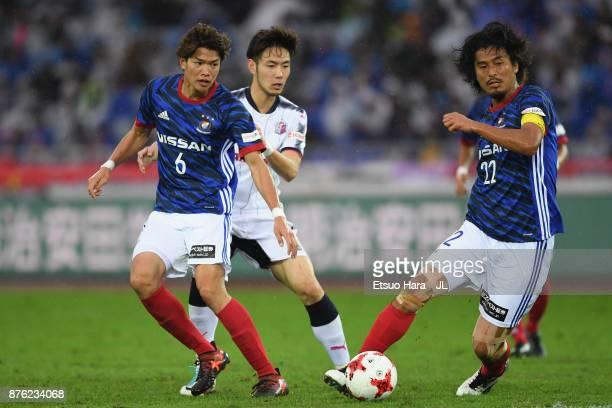 Yuji Nakazawa of Yokohama FMarinos in action during the JLeague J1 match between Yokohama FMarinos and Cerezo Osaka at Nissan Stadium on November 18...