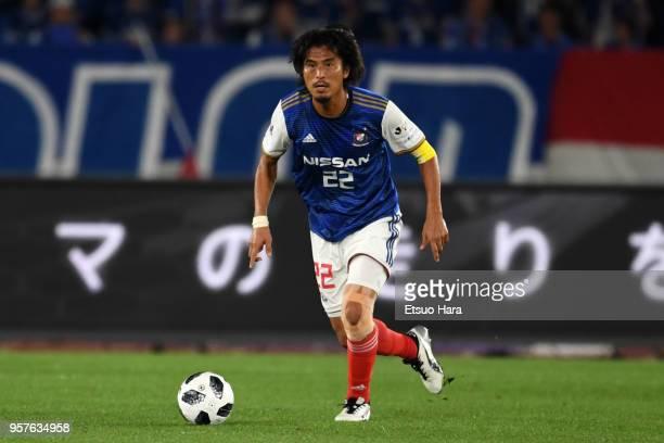 Yuji Nakazawa of Yokohama F.Marinos in action during the J.League J1 match between Yokohama F.Marinos and Gamba Osaka at Nissan Stadium on May 12,...
