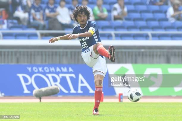 Yuji Nakazawa of Yokohama F.Marinos in action during the J.League J1 match between Yokohama F.Marinos and V-Varen Nagasaki at Nissan Stadium on May...