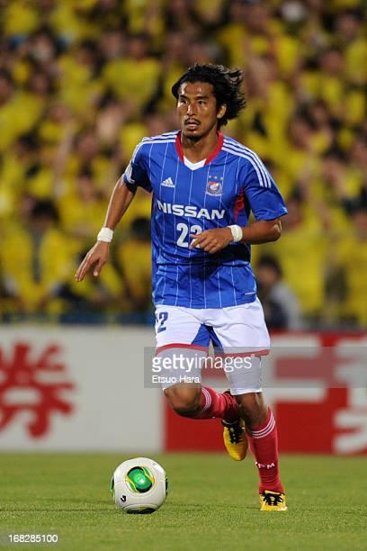 Yuji Nakazawa of Yokohama FMarinos in action during the JLeague match between Kashiwa Reysol and Yokohama FMarinos at Hitachi Kashiwa Soccer Stadium...