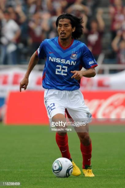 Yuji Nakazawa of Yokohama FMarinos in action during the Yamazaki Nabisco Cup first round match between Yokohama F Marinos and Vissel Kobe at Nippatsu...