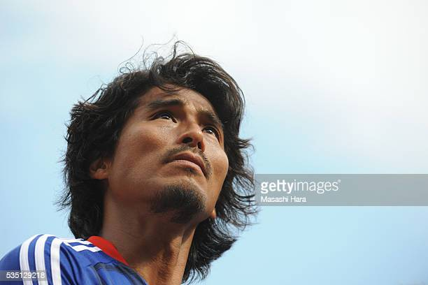 Yuji Nakazawa of Yokohama FMarinos looks on after the JLeague match between Yokohama FMarinos and Kashiwa Reysol at the Nissan Stadium on May 29 2016...