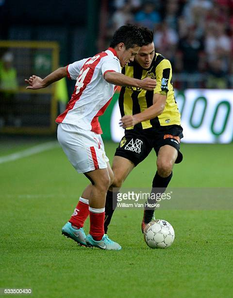 Yuji Ono of Standard and Rami Bensebaini of Lierse SK goalkeeper Eiji Kawashima of Standard and Laurent Ciman of Standard pictured during the Jupiler...