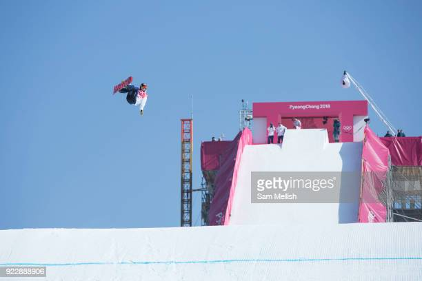Yuka Fujimori Japan during the womens snowboard big air final at the Pyeongchang 2018 Winter Olympics on 22nd February 2018 at the Alpensia Ski...