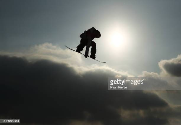 Yuka Fujimori of Japan trains ahead of the Snowboard Ladies' Big Air Final on day 13 of the PyeongChang 2018 Winter Olympic Games at Phoenix Snow...