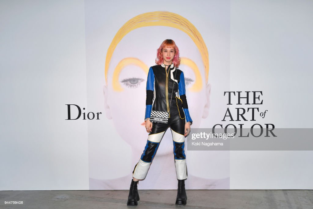 Yuka Mizuhara attends Dior's The Art of Color Press Preview on April 11, 2018 in Tokyo, Japan.