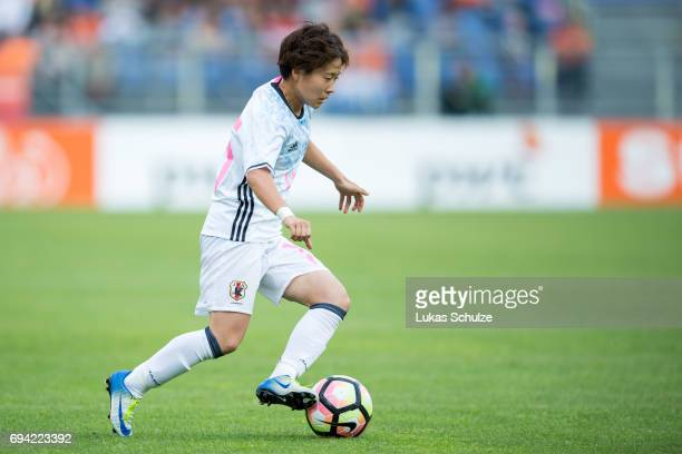 Yuka Momiki of Japan in action during the Women's International Friendly match between Netherlands and Japan at Rat Verlegh Stadion on June 9 2017 in...