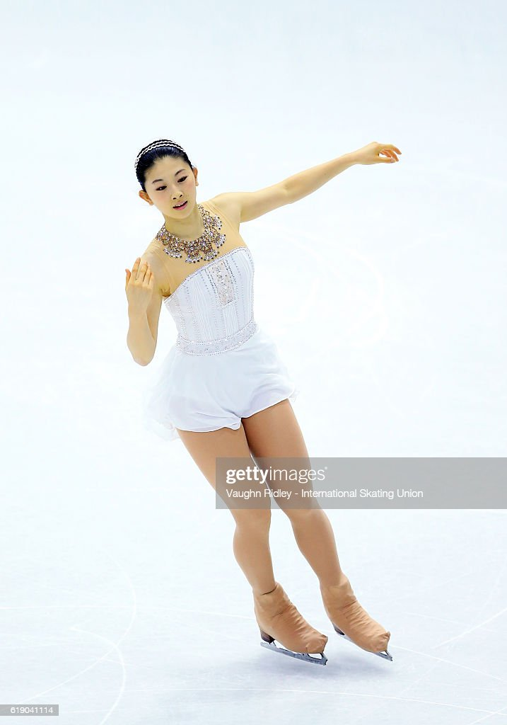 Yuka Nagai of Japan competes in the Ladies Free Program during the ISU Grand Prix of Figure Skating Skate Canada International at Hershey Centre on October 29, 2016 in Mississauga, Canada.