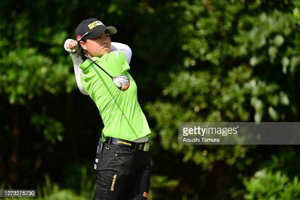 Yuka Saso of Japan hits her tee shot on the 2nd hole during the first round of the Descente Ladies Tokai Classic at the Shin Minami Aichi Country...