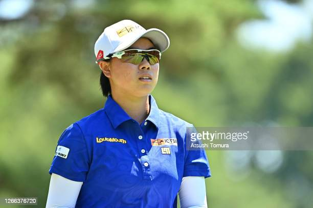 Yuka Saso of Japan is seen on the 4th hole during the second round of the NEC Karuizawa 72 Golf Tournament at the Karuizawa 72 Golf Kita Course on...