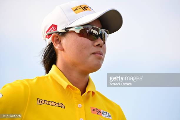 Yuka Saso of Japan reacts after holing out on the 18th green during the first round of the JLPGA Championship Konica Minolta Cup at the JFE...