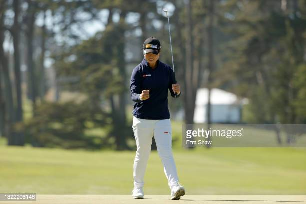 Yuka Saso of the Philippines celebrates after winning the 76th U.S. Women's Open Championship at The Olympic Club on June 06, 2021 in San Francisco,...