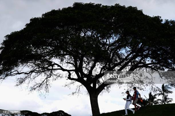 Yuka Saso of the Philippines walks to the 12th hole during the second round of the LPGA LOTTE Championship at Kapolei Golf Club on April 15, 2021 in...