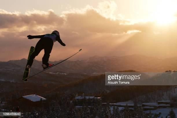 Yuka Seto of Japan competes during day two of the FIS Ski Jumping World Cup Ladies Zao at Kuraray Zao Schanze on January 19 2019 in Yamagata Japan