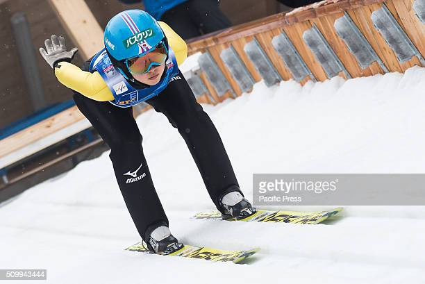 Yuka Seto of Japan competes during Ljubno FIS Ski Jumping World Cup in Ljubno Slovenia