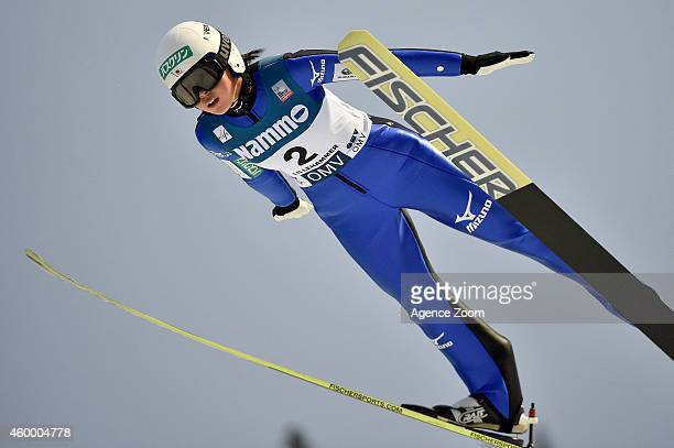 Yuka Seto of Japan competes during the FIS Ski Jumping World Cup Women's HS100 on December 05 2014 in Lillehammer Norway