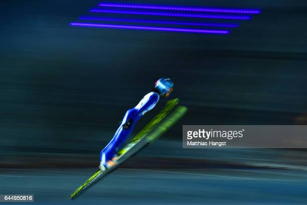 Yuka Seto of Japan competes in the Women's Ski Jumping HS100 during the FIS Nordic World Ski Championships on February 24 2017 in Lahti Finland
