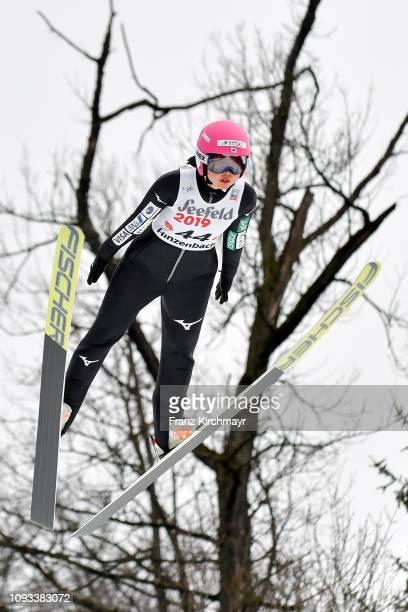 Yuka Seto of Japan during the FIS Ski Jumping Women's Worldcup at Energie AG Skisprungarena on February 3 2019 in Eferding Austria