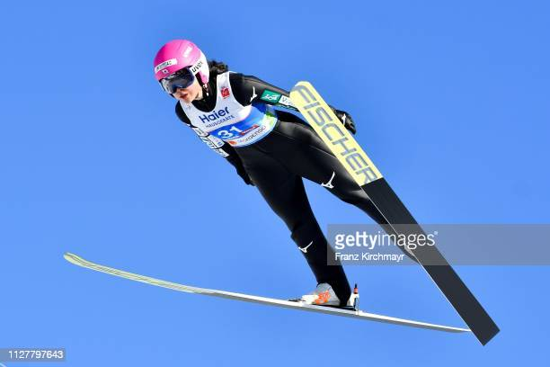 Yuka Seto of Japan during the Ski Jumping Competition Ladies HS109at the FIS Nordic World Ski Championships at Toni Seelos Schanze Seefeld on...