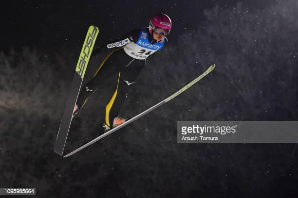 Yuka Seto of Japan in action during day one of the FIS Ski Jumping World Cup Ladies Zao at Kuraray Zao Schanze on January 18 2019 in Yamagata Japan