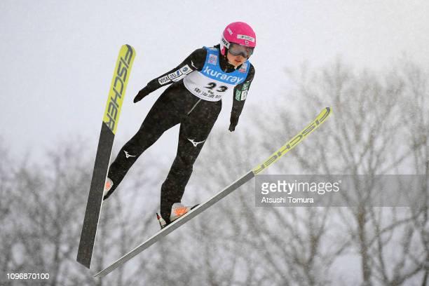 Yuka Seto of Japan in action during day two of the FIS Ski Jumping World Cup Ladies Zao at Kuraray Zao Schanze on January 20 2019 in Yamagata Japan
