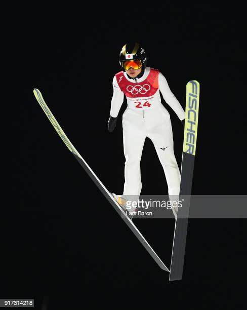 Yuka Seto of Japan makes a jump during the Ladies' Normal Hill Individual Ski Jumping Final on day three of the PyeongChang 2018 Winter Olympic Games...