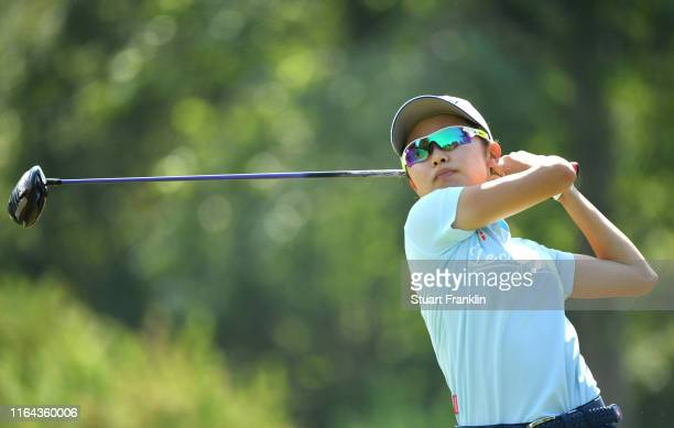 Yuka Yasuda of Japan during day 2 of the Evian Championship at Evian Resort Golf Club on July 26 2019 in EvianlesBains France