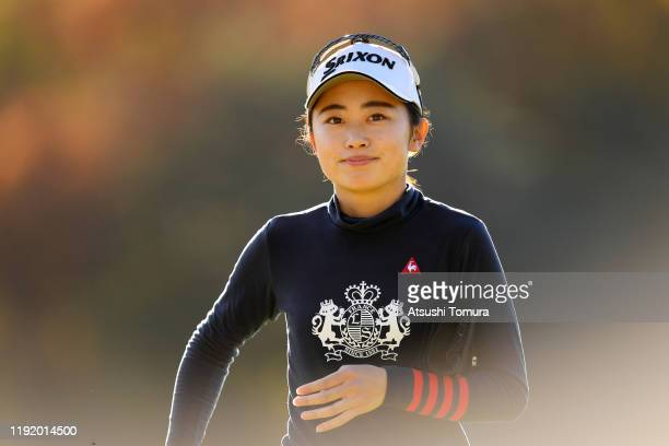 Yuka Yasuda of Japan is seen on the 11th green during the third round of the Japanese LPGA Final Qualifying Tournament at Kodama Golf Club on...