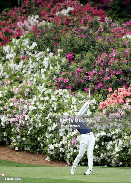 Yuka Yasuda of Japan plays her tee shot on the par 5 13th hole during the final round of the inaugural Augusta National Women's Amateur Championship...