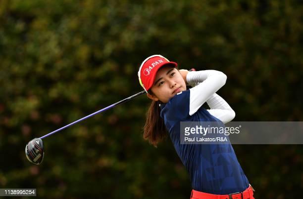 Yuka Yasuda of Japan prior to the Women's Amateur AsiaPacific Championship at The Royal Golf Club on April 24 2019 in Hokota Japan