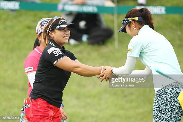 Yukari Baba of Japan smiles during the second round of the Yonex Ladies Golf Tournament 2016 at the Yonex Country Club on June 4 2016 in Nagaoka Japan